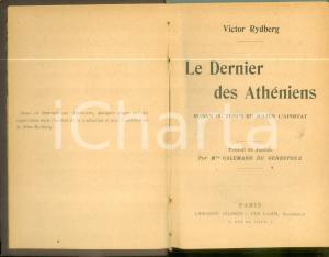 1901 Victor RYDBERG Le dernier des Athéniens *Edition NILSSON