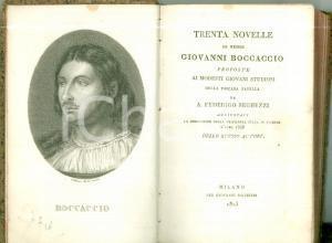 1823 Federico SEGHEZZI Trenta novelle di messer Giovanni BOCCACCIO *Volume