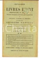 1901 PARIS Librairie Georges RAPILLY - Livres et estampes *Catalogue 40