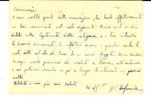 1942 MESSINA Facoltà di Giurisprudenza - Cartolina Giuseppe D'EUFEMIA *Autografo