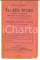 1897 PARIS Librairie GEORGES RAPILLY Catalogue de livres d'art et estampes n°22
