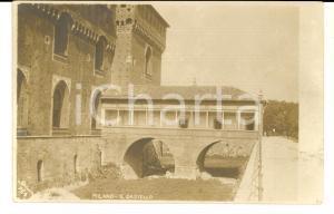 1909 MILANO Il Castello Sforzesco *Foto cartolina SCIUTTO n° 759 FP VG