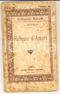 1892 NAPOLI G. MIRANDA Reliquie d'amore *Ed. Luigi PIERRO Collezione MINIMA