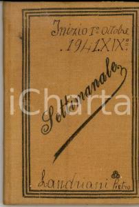 Ottobre 1941 GAGGIANO Ditta Pietro LANDRIANI Settimanale paghe per operai