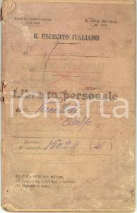 1930 VEROLENGO (TO) 12°Reggimeno FANTERIA Libretto personale Adolfo VERCELLOTTI