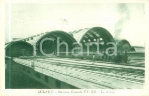 1935 ca MILANO tettoie Treno esce da STAZIONE CENTRALE *Cartolina FP NV