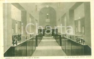 1936 MILANO Università Cattolica Sacro Cuore Sala lettura *Cartolina FP VG