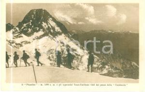 1930 ca LUCCA Escursionisti al Pisanino dal passo della FOCOLACCIA *Cartolina FP