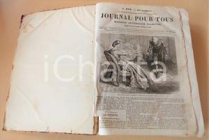 1864 JOURNAL POUR TOUS nn. 679 - 730 Magasin littéraire ILLUSTRATO DANNEGGIATO