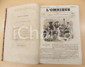 1857 - 1858 L'OMNIBUS Littérature histoire Fascicoli 161 - 239 Volume ILLUSTRATO