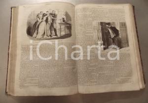 1855 - 1856 L'OMNIBUS Littérature histoire Fascicoli 1 - 80 Volume ILLUSTRATO