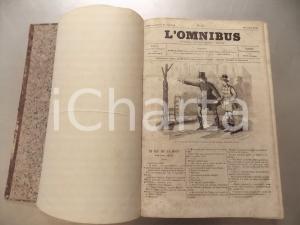 1858 - 1859 L'OMNIBUS Littérature histoire Fascicoli 241-320 Volume DANNEGGIATO