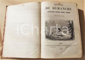 1860 - 1861 JOURNAL DU DIMANCHE Cinquième année n. 317 - 400 *ILLUSTRATO