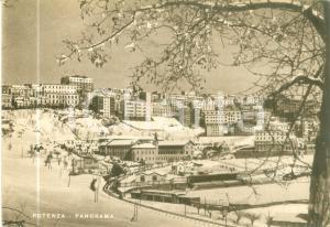 1950 ca POTENZA Panorama della città con ferrovia *Cartolina FG NV