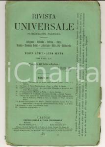 1872 RIVISTA UNIVERSALE L'insegnamento ufficiale in Italia *Anno VI n°113
