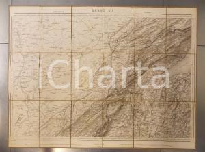 1875 DUFOUR Carte SUISSE PONTARLIER - YVERDON  *Mappa 75x55 cm