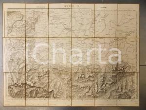 1866 DUFOUR Carte SUISSE FELDKIRCH - ARLBERG  *Mappa 75x55 cm