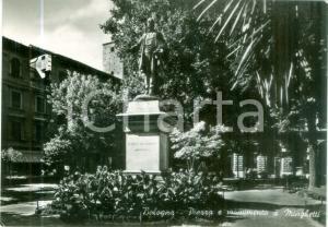 1954 BOLOGNA Monumento a Marco MINGHETTI in piazza *Cartolina FG VG