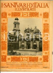 1928 I SANTUARI D'ITALIA ILLUSTRATI Loreto - La Santa Casa *Rivista n° 2