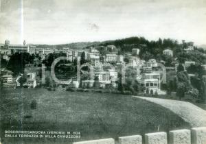 1953 BOSCO CHIESANUOVA Panorama da terrazza di Villa CAMUZZONI *Cartolina FG VG