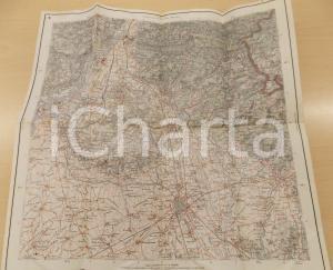 1920 ca REGNO D'ITALIA - Carta topografica UDINE 42x42 cm