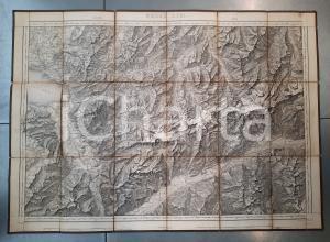 1870 ca DUFOUR Carte SUISSE VEVEY - SION *Mappa n° 17 75x55 cm