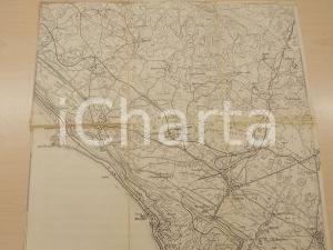 1924 TRIESTE OPICINA  Mappa su stoffa 40x38 cm *Fortunato ZOROVINI