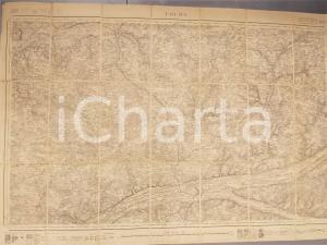 1900 ca TOURS Mappa Librairie GUILLAND-VERGER 100x60 cm su tela RARA