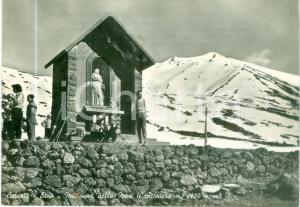 1956 CATANIA Sciatori alla Madonna della Neve sull'ETNA *Cartolina FG VG