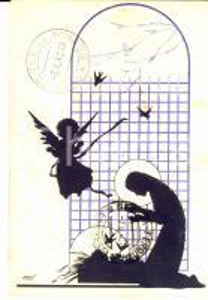 1940 LA SPEZIA NATALE Cartolina ILLUSTRATA MES ed. VITA E PENSIERO