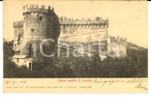 1902 LEVANTO (SP) Panorama con antico castello *Cartolina postale FP VG