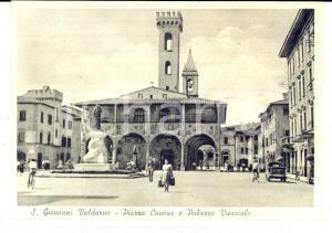 1950 ca SAN GIOVANNI VALDARNO (AR) Piazza CAVOUR *Cartolina ANIMATA FG