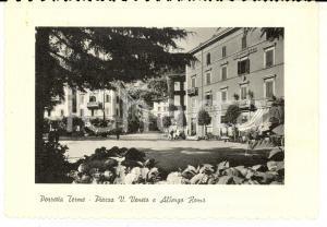 1964 PORRETTA TERME (BO) Piazza Vittorio Veneto e Hotel ROMA *Cartolina FG VG