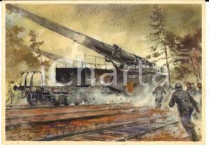 1940 WW2 DEUTSCHLAND Eisenbahngeschutze *Postkart GOTSCHKE