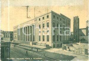 1950 PALERMO Palazzo Poste e Telegrafi *Cartolina FG VG DANNEGGIATA