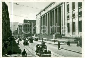 1951 PALERMO Automobili in Via ROMA Palazzo Poste *Cartolina FG VG