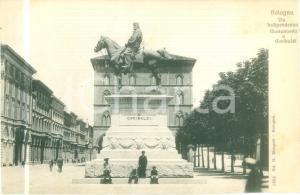 1930 ca BOLOGNA Via Indipendenza Monumento a GARIBALDI *Cartolina FP NV