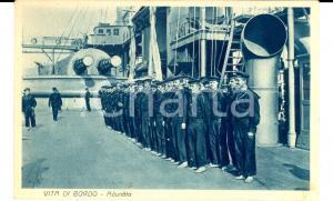 1935 ca REGIA MARINA Vita di bordo - Adunata *Cartolina postale FP VG