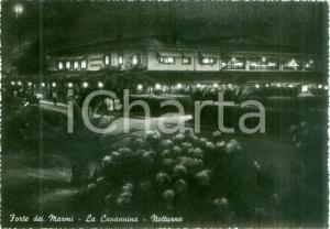 1953 FORTE DEI MARMI (LU) Veduta notturna de LA CAPANNINA *Cartolina FG VG