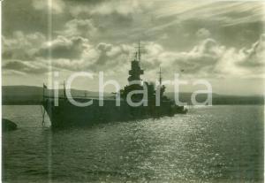 1951 TARANTO Nave CAIO DUILIO all'ancora in porto *Cartolina FG VG