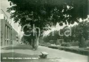 1950 LODI Teatro GAFFURIO e giardini pubblici *Cartolina FG NV
