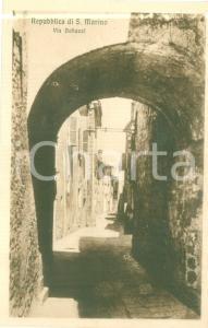 1930 ca REPUBBLICA DI SAN MARINO Veduta di Via BELLUZZI *Cartolina FP NV