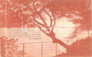 1933 PORTO RECANATI (MC) Veduta del lago di LEOPARDI *Cartolina FP VG