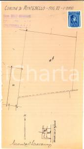 1930 MONTEBELLO DELLA BATTAGLIA Planimetria campo strada FOGLIARINA *GRAVANAGO