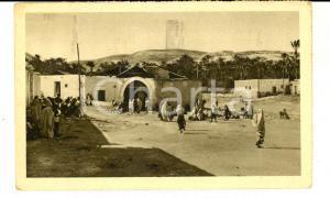 1931 DERNA (LIBIA) Veduta del BONDUK *Cartolina postale ANIMATA FP VG