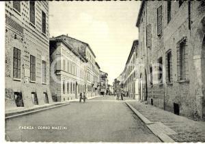 1950 ca FAENZA (RA) Veduta di corso MAZZINI *Cartolina animata FG VG