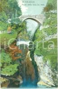 1952 VARALLO (VC) Ponte della Gula in VALSESIA *Cartolina FP VG