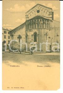 1900 ca CARRARA Veduta dell'abside del Duomo *Cartolina ANIMATA FP NV