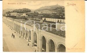 1900 ca BOLOGNA Veduta Santuario SAN LUCA *Cartolina ANIMATA calesse FP NV