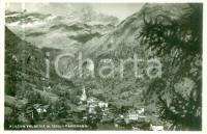1940 ca ALAGNA VALSESIA (VC) Panorama del paese e della valle *Cartolina FP NV